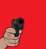 射击手枪例证的手 免版税库存照片
