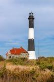 射击海岛灯塔和老板处所,长岛, NY 免版税库存图片