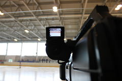 射击照相机曲棍球赛 库存照片