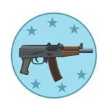 射击的武器象 向量例证