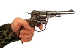 射击的生产开始从左轮手枪的 免版税库存照片