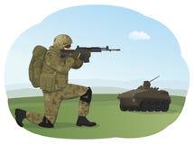 射击训练 向量例证