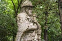 将军的雕象 免版税库存照片