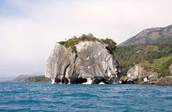 将军的Carrera Lake,巴塔哥尼亚,智利大理石大教堂 免版税库存照片