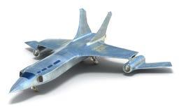 将来的太空飞船白色 库存照片