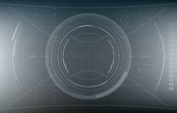 将来的界面 数字式元素 免版税库存图片