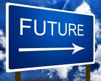 将来的路标符号 免版税图库摄影