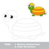 将被追踪的乌龟 传染媒介踪影比赛 库存图片