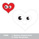将被追踪的心脏 传染媒介踪影比赛 免版税库存图片