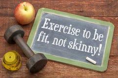 将适合的锻炼,不皮包骨头! 免版税库存图片