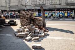 尊严革命- Euromaidan基辅,乌克兰 库存照片