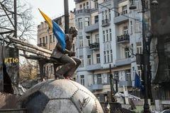 尊严革命- Euromaidan基辅,乌克兰 库存图片