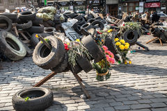 尊严革命- Euromaidan基辅,乌克兰 免版税库存照片