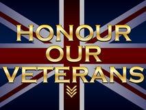 尊敬我们的退伍军人 免版税图库摄影