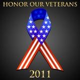 尊敬我们的退伍军人 向量例证