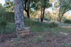 尊敬植物群和动物区系 生态学消息 免版税库存照片