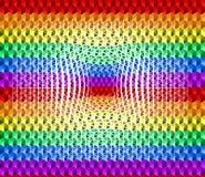 小三角形状五颜六色的彩虹纹理背景,凹痕表面,LGBTQ自豪感旗子颜色,无缝的样式 库存例证