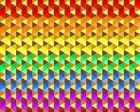 小三角形状,LGBTQ自豪感旗子颜色,无缝的样式五颜六色的挥动的彩虹纹理背景  平的设计传染媒介 向量例证