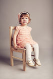 小不快乐的女孩 库存照片