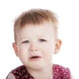 小不快乐的女孩 免版税图库摄影