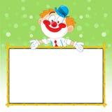 小丑做广告 免版税库存图片