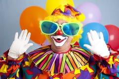 小丑傻的惊奇 免版税库存图片