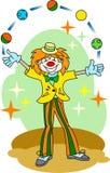 小丑变戏法者 免版税库存照片