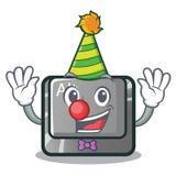 小丑在桌上的动画片alt按钮 皇族释放例证
