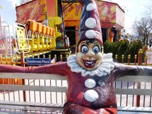 小丑在Prater的维也纳 免版税库存图片