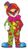 小丑展示一手 图库摄影
