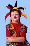 小丑微笑的年轻人 免版税图库摄影