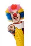 小丑指向 免版税库存照片