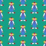 小丑无缝的样式 免版税图库摄影