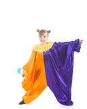 小丑服装女孩一点 库存图片