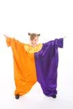 小丑服装女孩一点 免版税库存图片