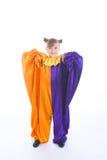 小丑服装女孩一点 免版税图库摄影