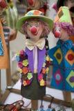 小丑木偶 免版税库存图片