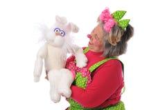 小丑木偶 免版税图库摄影