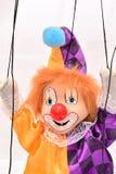 小丑木偶 Peple管理 免版税库存照片