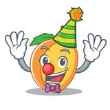 小丑杏子吉祥人动画片样式 库存照片