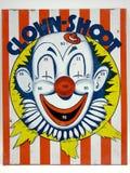 小丑比赛射击目标玩具 图库摄影