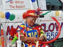 小丑气球艺人 库存照片