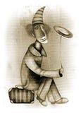小丑滑稽的例证 免版税库存照片