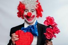小丑爱 免版税库存照片