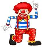小丑的一个简单的色的剪影 免版税图库摄影