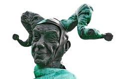 小丑的雕象 免版税库存图片