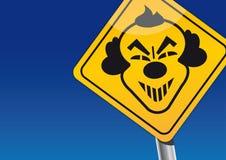 小丑瞄准-可怕小丑 免版税图库摄影