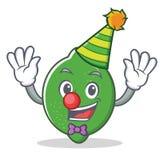 小丑石灰吉祥人动画片样式 库存照片