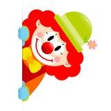 小丑红色头发垂直的横幅权利 皇族释放例证