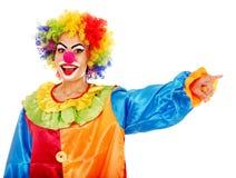 小丑纵向。 免版税库存图片